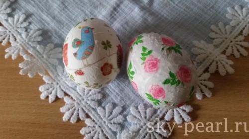 пахальные яйца украшенные декупаж