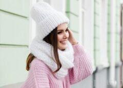 Выбираем женскую шапочку для определенного типа лица